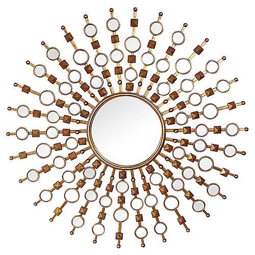 Regency-Style Sunburst Mirror