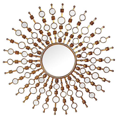 Regency-Style Sunburst Mirror