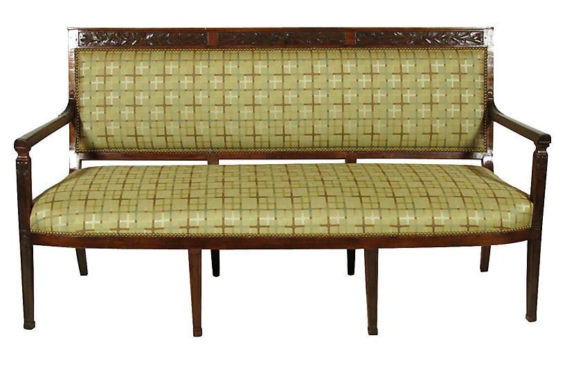 19th-C. Italian Neoclassic-Style Settee