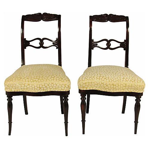 Swedish Side Chairs, Pair