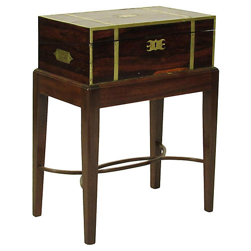 19th-C. Rosewood Lap Desk on Stand