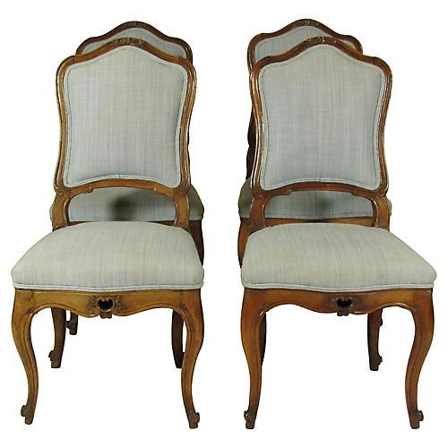 18th C. Italian Side Chairs, S/4