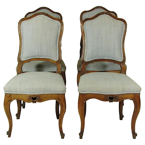 18th-C. Italian Side Chairs, S/4