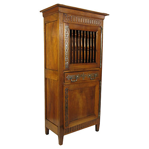 19th-C. Louis XVI-Style Walnut Armoire