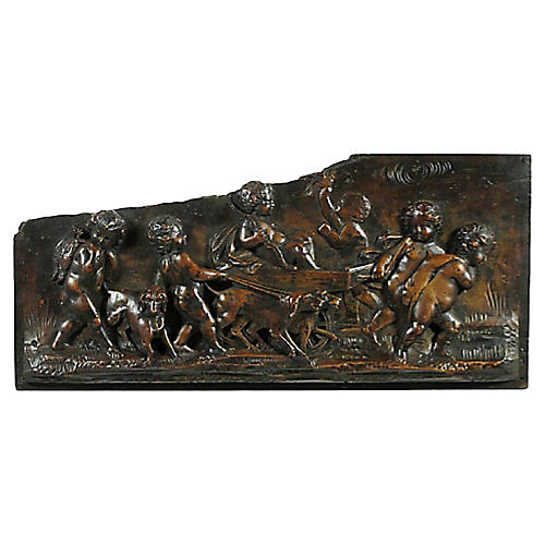 18th-C. Italian Classical Carved Panel