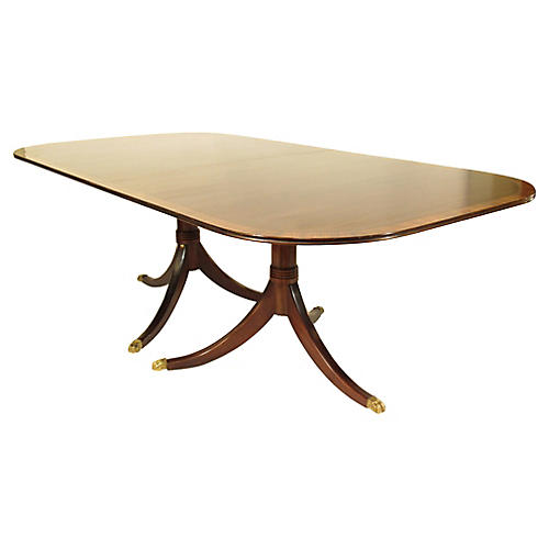 Early 20th-C. Regency Style Dining Table
