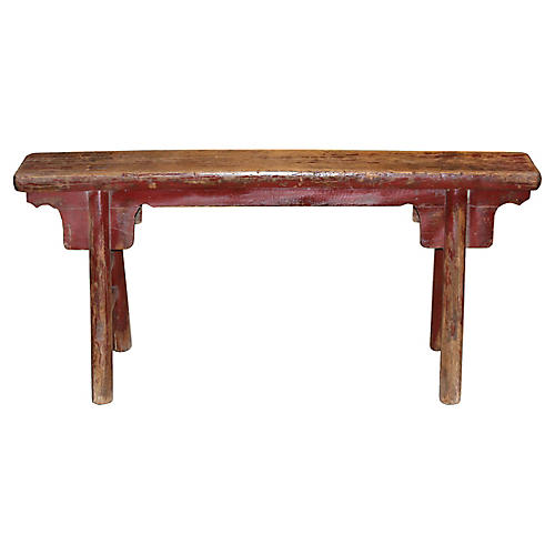 Red Chinese Bench