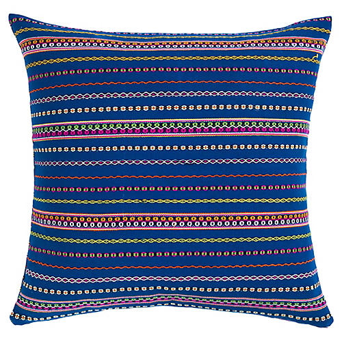 Royal Blue Wool Zunil Pillow