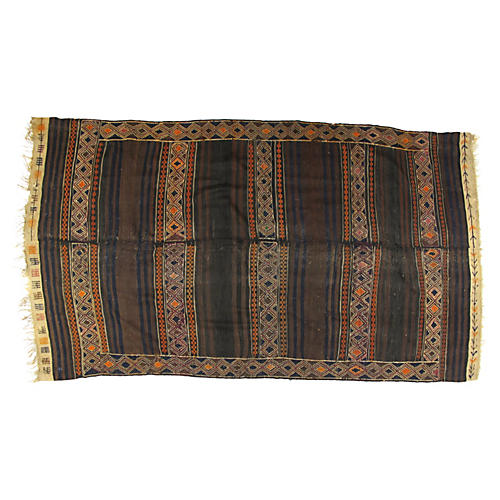 "Antique Ghouchan Kilim, 10'3"" x 5'9"""
