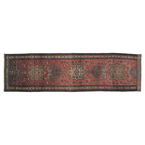 "Persian Heriz Runner, 12'3"" x 3'4"""