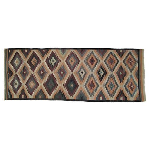 "Navajo-Style Kilim, 12'9"" x 4'9"""