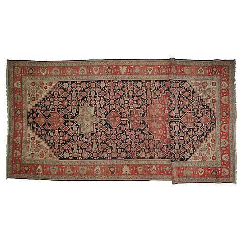 "Antique Karabagh Runner, 6'9"" x 18'4"""