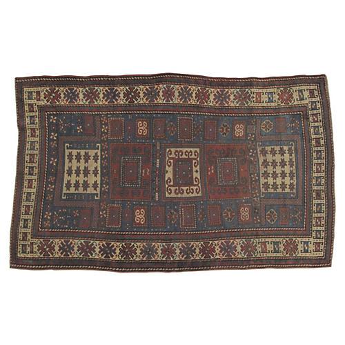 "Antique Kazak Rug, 7'4"" x 4'6"""