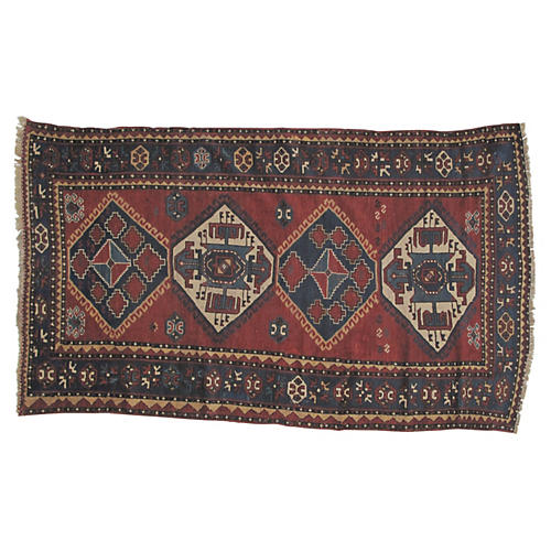 "Antique Kazak Rug, 8' x 4'6"""