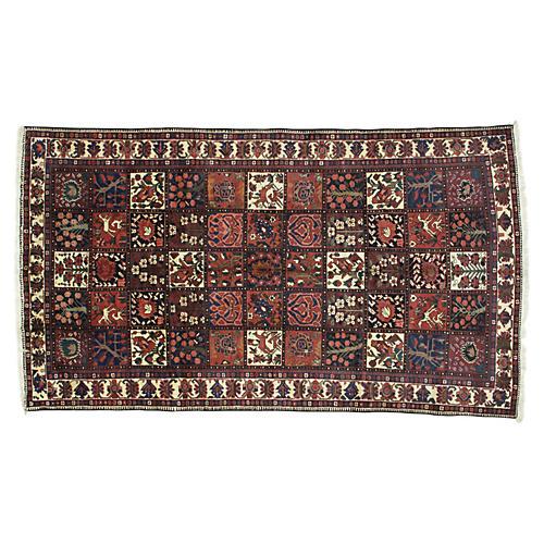 """Persian Bakhtiari Rug, 10' x 5'8"""""""