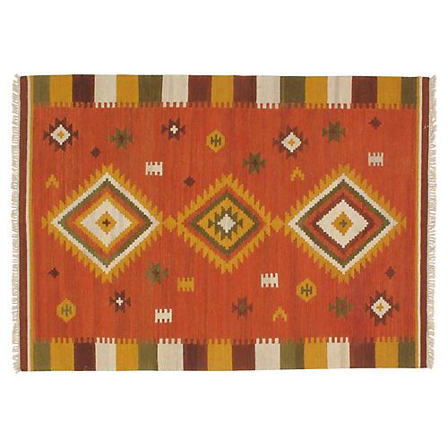 "Navajo-Style Kilim, 5'7"" x 7'9"""