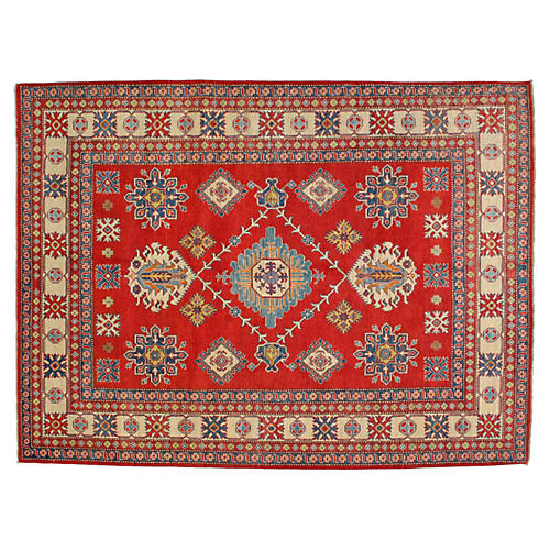 "Red Kazak Rug, 8'4"" x 11'3"""