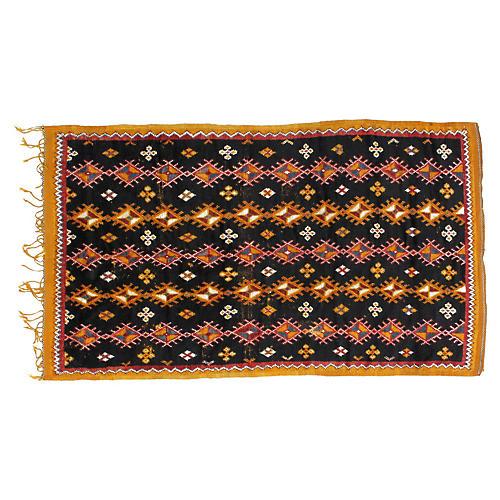 "Handwoven Moroccan Rug, 4'6"" x 8'5"""
