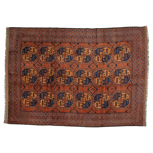 "1980s Afghan Carpet, 8'9"" x 12'"