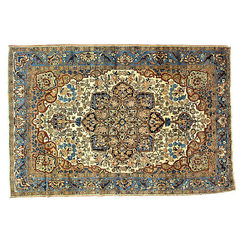 "Antique Persian Bakhtiari Rug, 7'4""x11'"