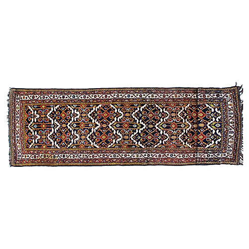 "Antique Bakhtiari Runner, 3'10"" x 14'"