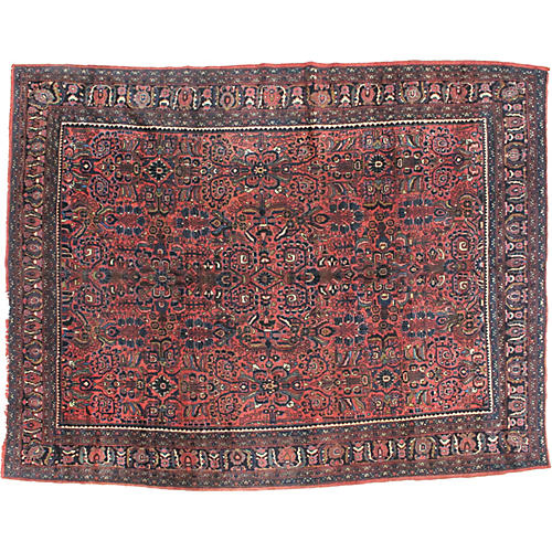 Antique Bibikabad Rug, 9' x 11'8""