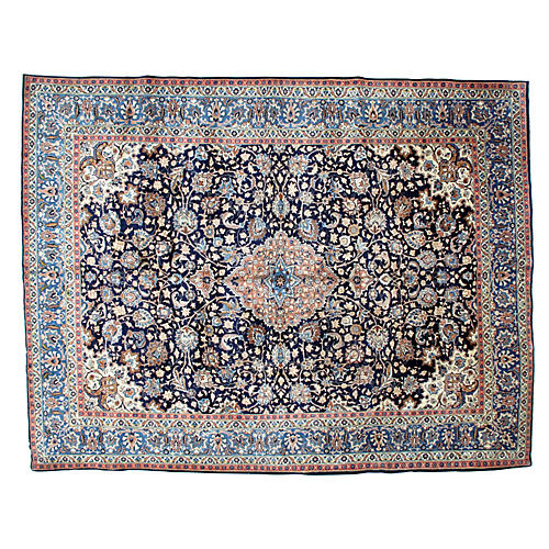 "Persian Kashan Carpet, 9'8"" x 12'6"""