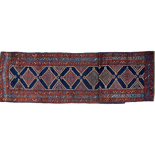 Antique Bakhshaish Runner, 4' x 16'8""
