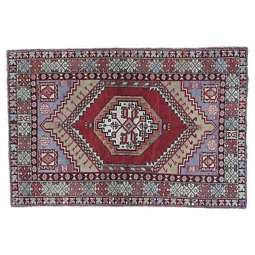 """Anatolian Oushak Rug, 3'8"""" x 5'5"""""""