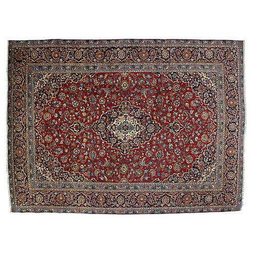 "Persian Kashan Carpet, 9'2"" x 12'6"""