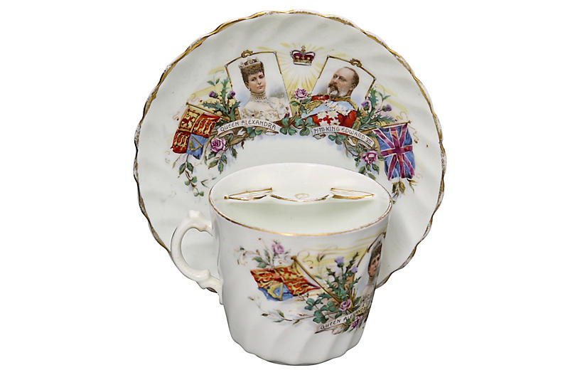 1902 King Edward VII Mustache Cup