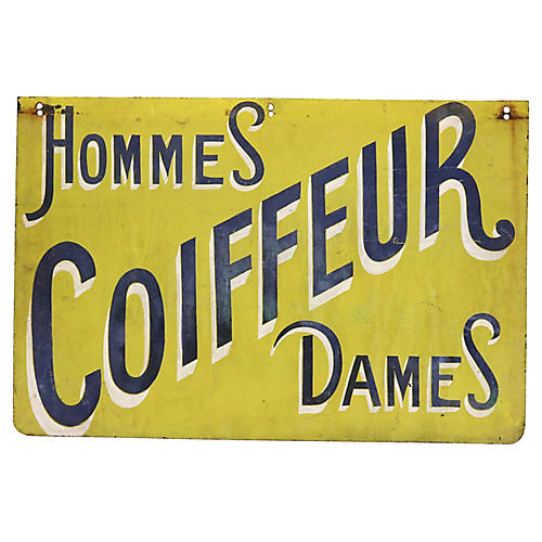 1950s French Hair Dresser / Salon Sign