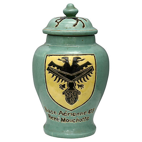 WWII French Military Commemorative Urn