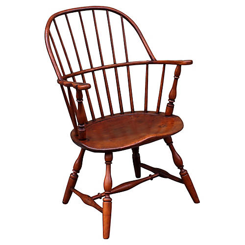 18th-C. Sack-Back Windsor Armchair