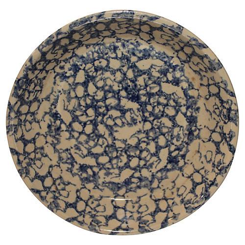 20th-C. Spongeware Pie Plate