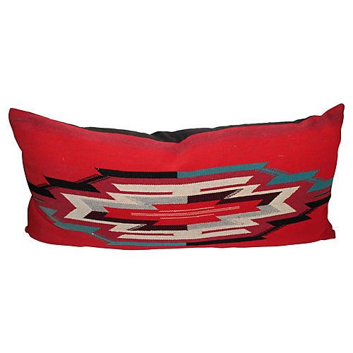 Large Indian Chimayo Weaving Pillow