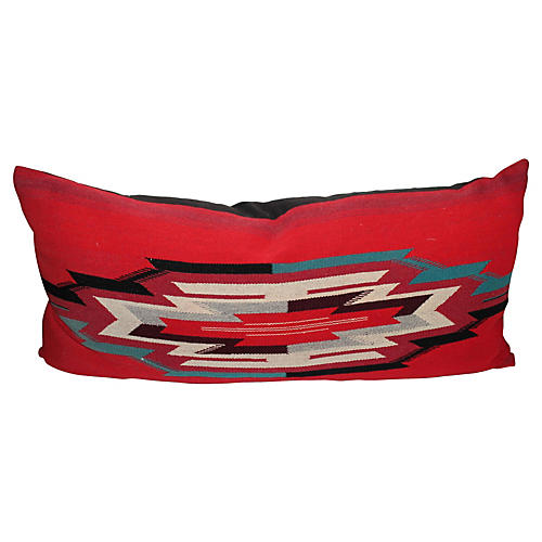 Large Indian Chimayo Weaving Pillow
