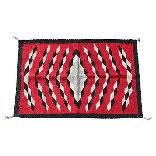 19th-C. Navajo-Style Eye Dazzler Weaving
