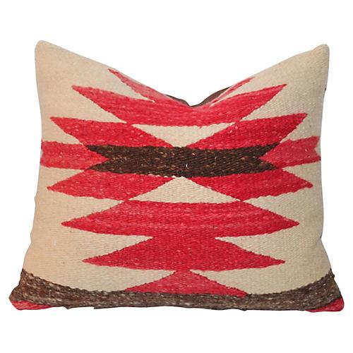 Navajo-Style Weaving Jigsaw Pillow