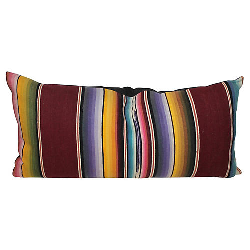 Striped Serape Bolster Pillow