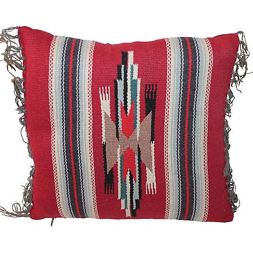 Small Native Design Weaving Pillow