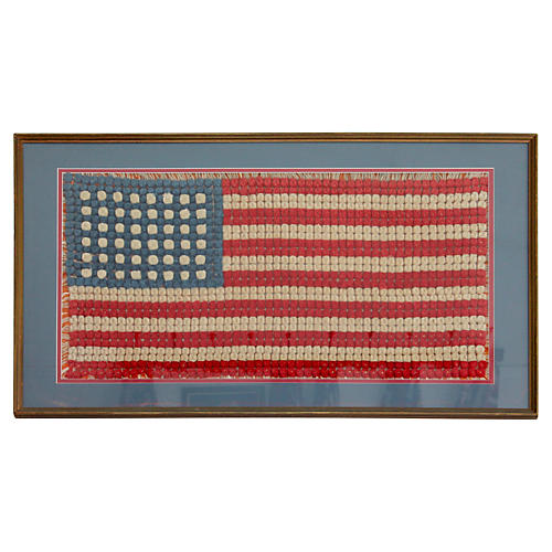 Hand-Crocheted 48-Star American Flag
