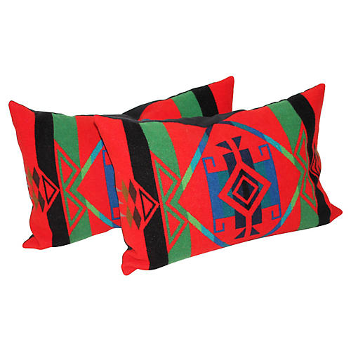 Pendleton Camp Blanket Pillows, Pair