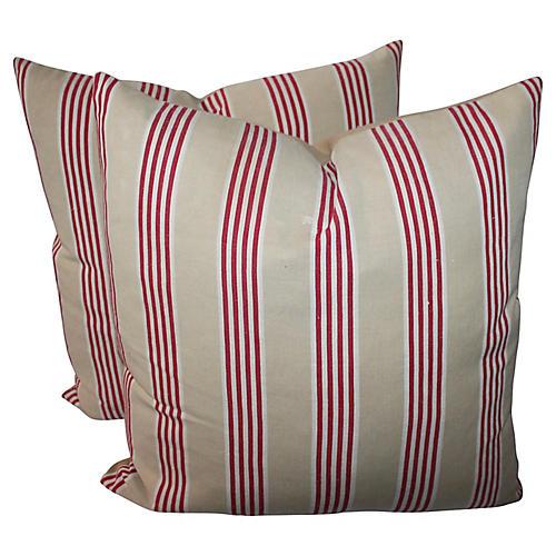 Striped Pillows, Pair