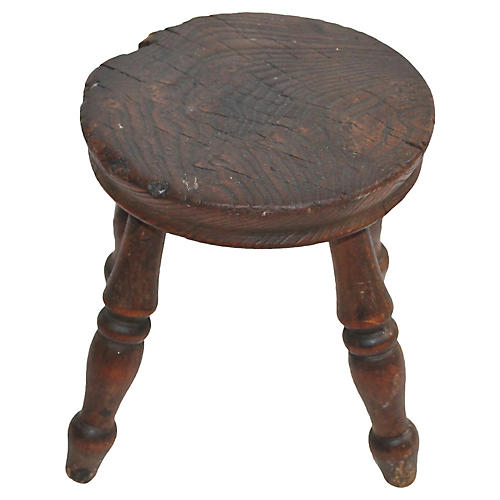 Small Turned Leg Stool