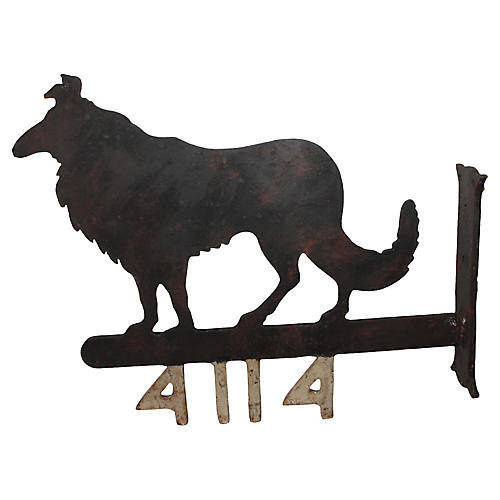 Iron Collie Wall Mount
