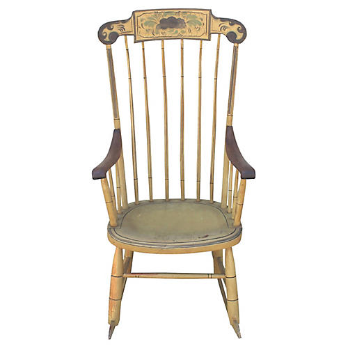 19th-C. New England Painted Rocker