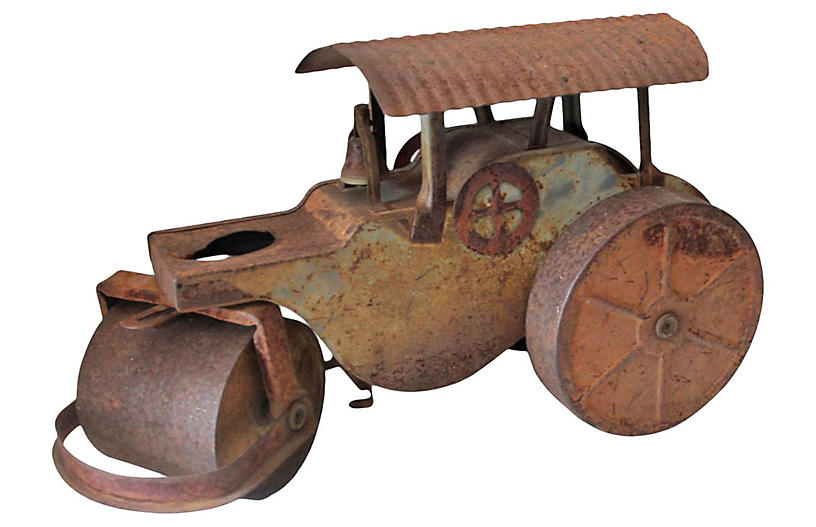 Boston Tin Toy Steam Roller Truck