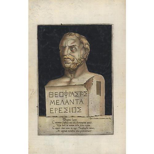 Roman Bust Sculpture Print, 1569