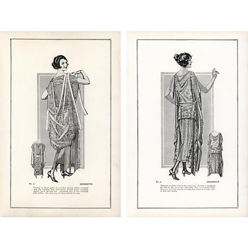 Haute Couture FashionPrints, Pr, 1922